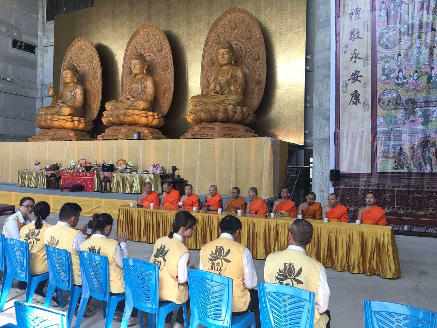 611106 รอง กต ร่วมพิธีอัญเชิญพระประธาน วัดโฝวกวงซัน คู้บอน 14
