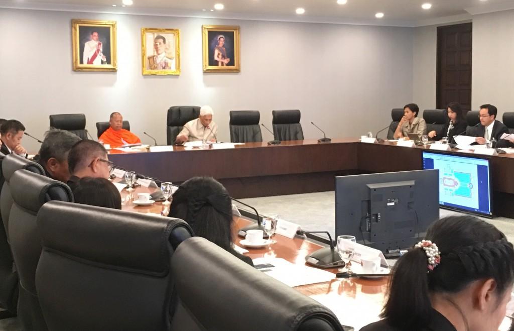 620109 รอง กต นายสุวพันธ์ ประชุมคณะกรรมการรับมอบหน่อต้นพระศรีมหาโพธิ์ ทำเนียบรัฐบาล 9